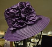 Fancy hat for derby day. Fancy, colorful hat for a formal occasion such as church, Kentucky Derby, a wedding or meeting the queen Royalty Free Stock Image