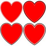 Fancy Heart Icons Stock Image
