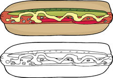 Fancy Hot Dog Stock Images