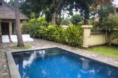 Fancy hotel room in Bali, Indonesia stock photo