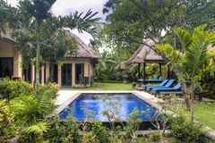 Fancy hotel room in Bali, Indonesia royalty free stock images