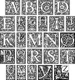 Fancy Initial Alphabet