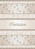 Fancy invitation card design Royalty Free Stock Photos
