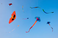 Fancy Kites against on a blue sky Stock Photography