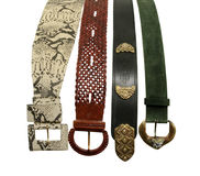 Fancy leather belts Royalty Free Stock Image