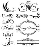 Fancy Lines 1. Fancy swirls page spacers page dividers Stock Photo