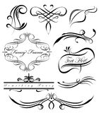 Fancy Lines 3. Fancy swirls page spacers dividers Stock Images