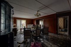 Fancy Living - Abandoned Brown`s Hotel - Catskill Mountains, New York Royalty Free Stock Photography