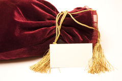 Fancy luxury gift bag Royalty Free Stock Photos