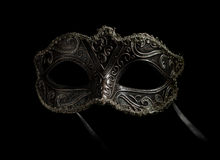 Fancy mask. A fancy mask in silver and black Royalty Free Stock Image