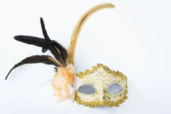 Fancy mask,  accessories obscuring the face of the party. Royalty Free Stock Photography
