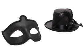Fancy mask and hat Stock Image