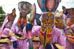 Fancy mask in Phi Ta Khon festival Stock Images