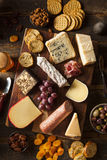 Fancy Meat and Cheeseboard with Fruit Stock Photography