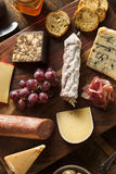 Fancy Meat and Cheeseboard with Fruit Royalty Free Stock Photo