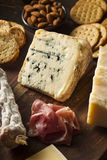 Fancy Meat and Cheeseboard with Fruit Stock Images