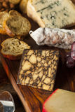 Fancy Meat and Cheeseboard with Fruit Royalty Free Stock Photos