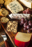 Fancy Meat and Cheeseboard with Fruit Stock Image