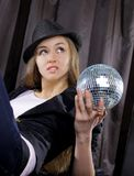 Fancy with mirror ball Stock Images