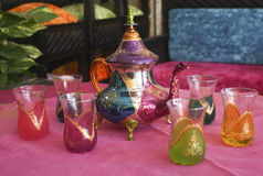 Fancy Moroccan teaset Royalty Free Stock Images
