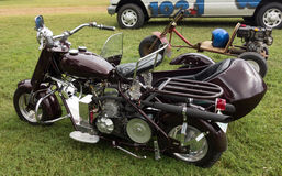 A fancy motorcycle on display at an annual event in paducah Stock Photography