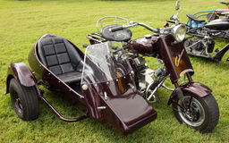 A fancy motorcycle on display at an annual event in paducah Royalty Free Stock Photography