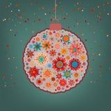 Fancy multicolor Christmas ball. EPS 8 Stock Photo