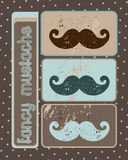 Fancy mustache Stock Images