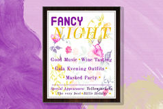 Fancy Night. A great poster which invite you to a Fancy Night royalty free stock images