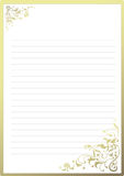 Fancy notepaper Royalty Free Stock Photo