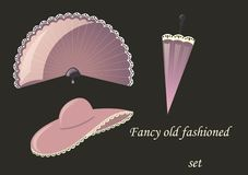 Fancy old fashioned set Royalty Free Stock Photography