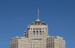 Fancy Old Hotel Building. The top of a fancy hotel on San Francisco's Nob Hill stock images