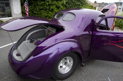 Fancy old purple car Stock Images