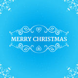 Fancy ornate borders with text merry christmas at Royalty Free Stock Photo