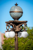 Fancy outdoor light fixture with blue sky Stock Photo