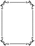 Fancy Page Border Royalty Free Stock Images
