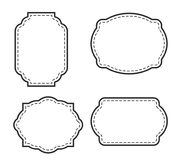Fancy Page Border set in white. Fancy page border Four. Also available as file royalty free illustration