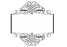 Fancy Page Border Three royalty free stock photography