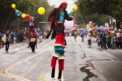 Fancy Pants Stilt Walkers Stock Photos