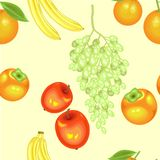 A fancy pattern. Ripe beautiful fruit. Suitable as wallpaper in the kitchen, as a background for packaging products. Creates a vector illustration