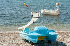 Fancy pedal boats Stock Photography