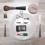 Fancy picture of makeup meal Stock Photos