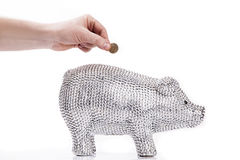 Fancy Piggy bank Royalty Free Stock Images