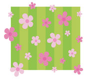 Fancy pink flowers background stock photos