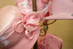Fancy pink hats Royalty Free Stock Photo