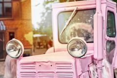 Fancy pink tractor Royalty Free Stock Image
