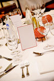 Fancy place setting on table Royalty Free Stock Image