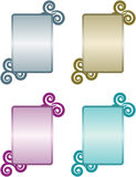 Fancy Plates. Series of four colorful elegant plates graphic elements vector illustration
