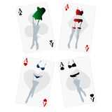 Fancy playing cards Stock Photos