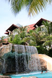 Fancy Pool. A fancy resort pool in Malaysia Stock Photo